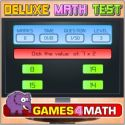 Deluxe math test - math game